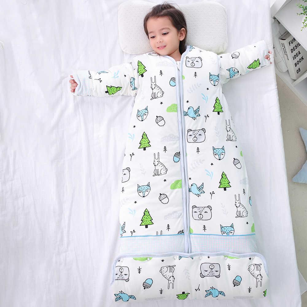 Bébé enfant en bas âge sac de couchage enfants sieste tapis Anti-coup de pied couette artefact avec oreiller amovible maternelle enfants sac de couchage
