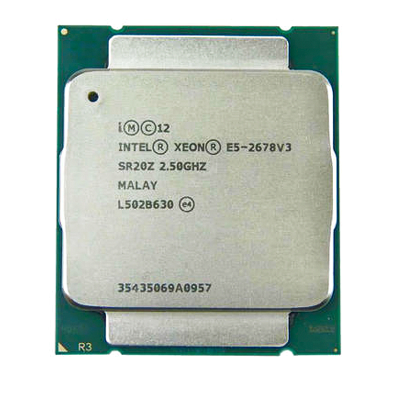 Intel Xeon E5 2678 V3 e5-2678 V3 CPU 2.5G Serve LGA 2011-3 PC Desktop <font><b>processor</b></font> For X99 motherboard image