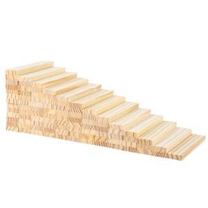 Image 4 - Ahşap inşaat yapı modeli tuğla blokları çocuk zeka geliştiren oyuncak 100 ahşap pano DIY Set oyun arkadaş çocuklar hediye