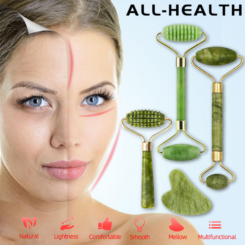 Natural Massager For Face Gouache Scraper For Face Massager Jade Roller Guasha Scraper For Face Microniddle Roller Face Gua Sha