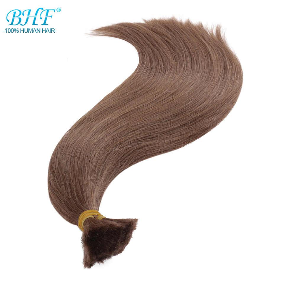 BHF Human Hair Crochet Bulk Brazilian Hair Weave Bundles Remy Bulk Human Hair No weft 100G/pieces