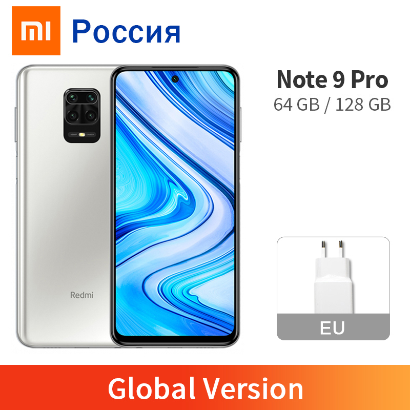Global Version Xiaomi Redmi Note 9 Pro 6GB 64GB / 6GB 128GB Smartphone Snapdragon 720G Octa Core 64MP Quad Cameras 5020mAh NFC(China)