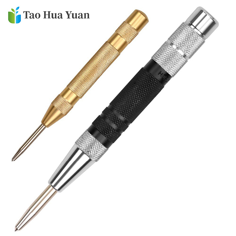 Tao Hua Yuan Super Strong Automatic Centre Punch and General Automatic Center Punch Adjustable Spring Loaded Metal Drill Tool AA