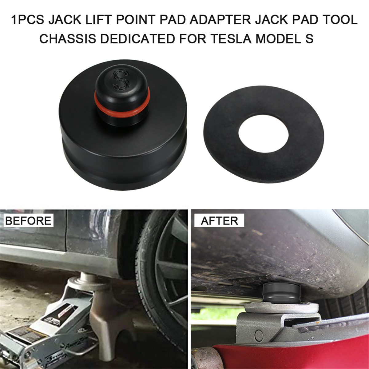 1pc Jack Lift Point Pad Car Styling Tools Jack Lift Raise Chassis Specific Jack Pad Tool Lift Point Adapter For Tesla Model X/S