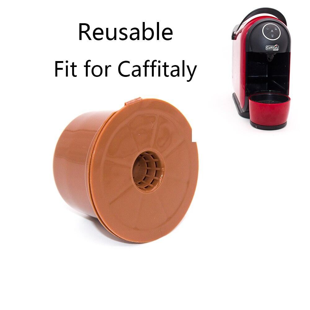 Fit עבור Caffitaly קפה קפסולת Refillable קפה כמוסה לשימוש חוזר קפה תרמילי קפה מסנן קפה כוס