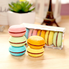 5pcs/lot Colorful Macaroon Eraser For Kids Student Gifts Soft Rubber Stationery Supplies
