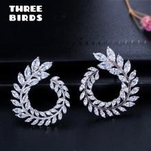 Trendy Zirconia crystal Sparkly Olive Branch Leaf Shape flower Earrings Big Stud Earrings For Women boucle d'oreille femme 2019 тоник для кожи гельтек с гидролизатом коллагена и алоэ вера 300 мл