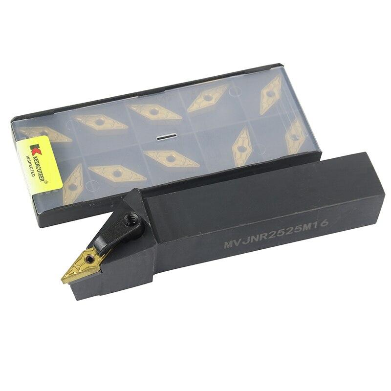 1pc MVJNR2020K16 MVJNR1616K16 MVJNR2525M16 External Turning Tool Holder VNMG Carbide Inserts MVJNR Lathe Cutting Tools Set