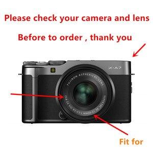 Image 4 - 보호 키트 화면 보호기 카메라 케이스 가방 uv 필터 금속 렌즈 후드 fujifilm X A7 xa7 카메라 15 45mm 렌즈