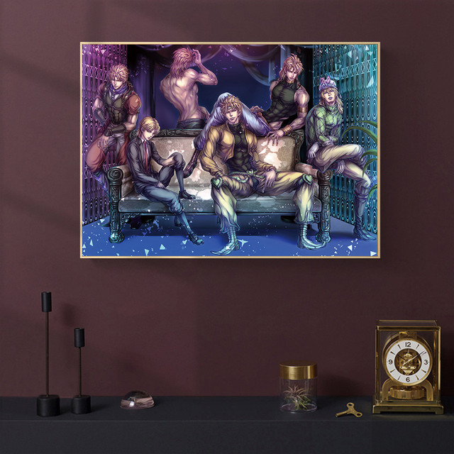 JoJo s Bizarre Adventure Japan Anime Cartoon Poster and Prints Canvas Painting Art Wall Pictures Living Room Home Decor 3