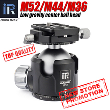 Low Center of Gravity 52mm 44mm 36mm tripod ball head Double U Notch ultra low profile Damping setting CNC ballhead heavy duty