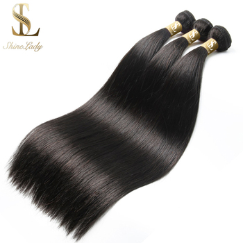 Shinelady 28 30 32 34 36 38 40 inch Straight Hair Bundles Peruvian Hair Bundles Remy Human Hair Weave Silky Hair 1/3/4 pieces image