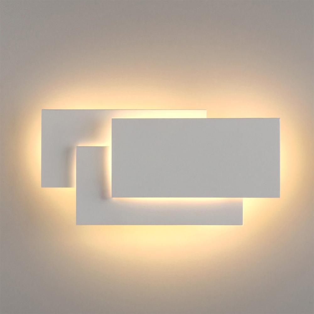 Led Wall Light Aluminum Fine Wall Lights Rectangular Art Stripe Wall Light 3 Square Wall Lamp Modern Living Room Aisle Staircase