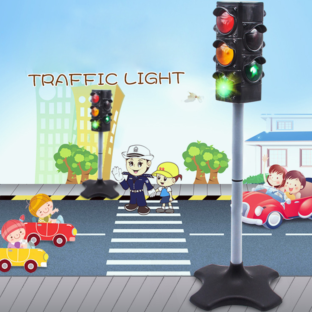 Child Education Toy 72 Cm Traffic Light Signal Lamp Toy Safe Crossing Road Traffic Lights Cognitive Toy Kids Birthday Xmas Gift