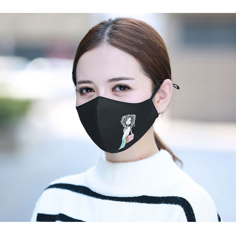 1PCS Cotton Dustproof Allergy Flu Girls Mouth Face Mask Cartoon Girls Muffle Face Mouth Masks Reusable