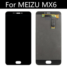 FOR Meizu MX6 LCD Screen LCD Display+Touch Screen Digitizer Assembly Replacement for meizu metal lcd screen display with touch screen digitizer assembly white color by free shipping