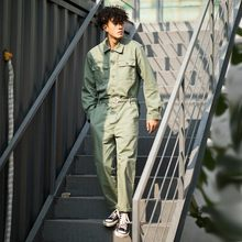Top Quality Mens Loose Fit Long Sleeve Jumpsuit Brand Safari Cargo Pants Streetwear Work Suit One Piece Jumpsuits Bib Overalls(China)