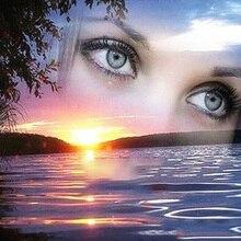 DIY Алмазная вышивка пейзаж Картина с рисунком глаз Вышивка крестом Алмазная картина женщина украшение дома подарок на праздник
