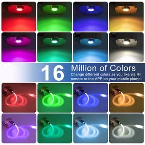 Image 5 - 16W RGBW 반짝임 스마트 블루투스 APP 광섬유 스타 천장 키트 혼합 335/430pcs *(0.75 + 1.0 + 1.5mm) 촬영 유성 효과