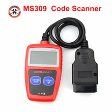 Code Scanner MS309 CAN BUS OBD2 car Code Reader EOBD OBD II Diagnostic Tool MS 309  with Multi-languages Free Shipping