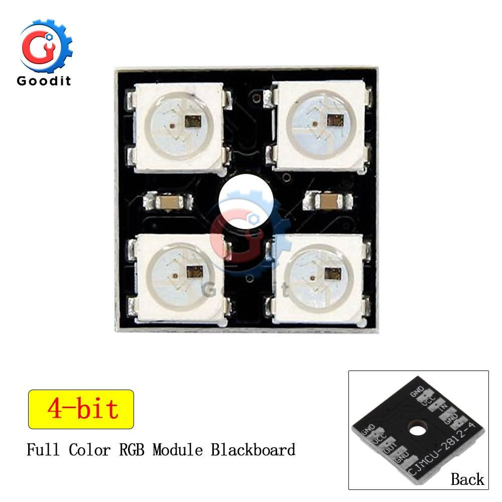 WS2812B 2x2 4-Bit Full Color LED Matrix 5050 RGB LED Lamp Panel Light For Arduino 2*2 Lamps