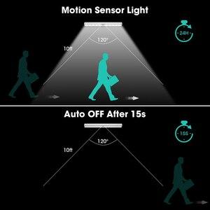 Image 5 - PIR Under Cabinet Light USB Rechargeable Motion Sensor Closet Lights Wireless Magnetic Stick on Cordless 10 LED Night Light Bar