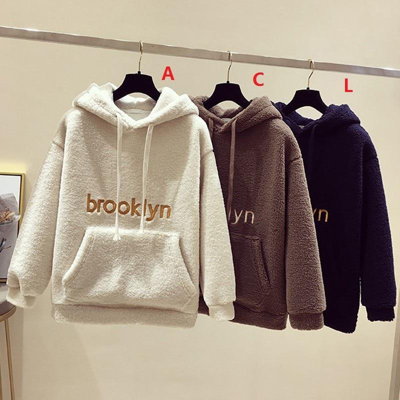 Женские теплые толстовки на осень и зиму модный флисовый пуловер