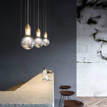nordic iron industrial design art chandeliers ceiling lustres nordic decoration home lampes suspendues living room decoration(China)