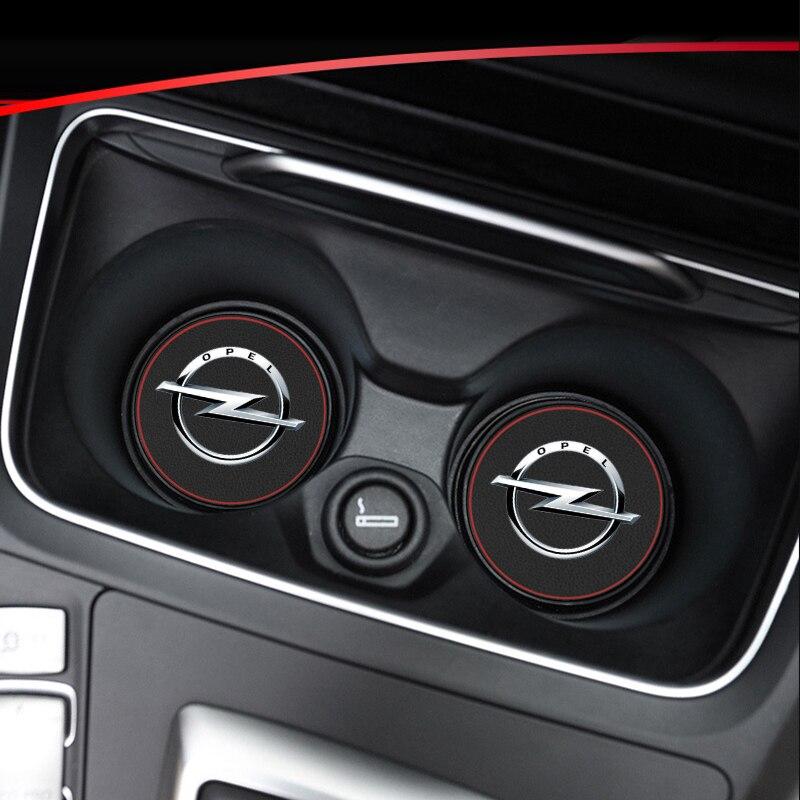1pcs รถเสื่อภายใน Coaster Coaster หนังสำหรับ Opel Astra H G J INSIGNIA Mokka Zafira Corsa Vectra C D รถ Anti-สกปรก Pad