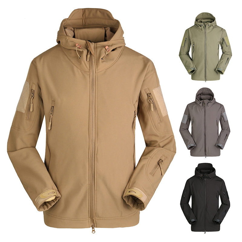 Softshell Jacket Windbreaker Tactical-Clothing Military Fishing Hunting Waterproof Hiking title=