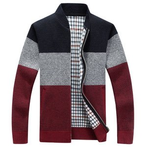 Winter Fashion Patchwork Men Knitted Car