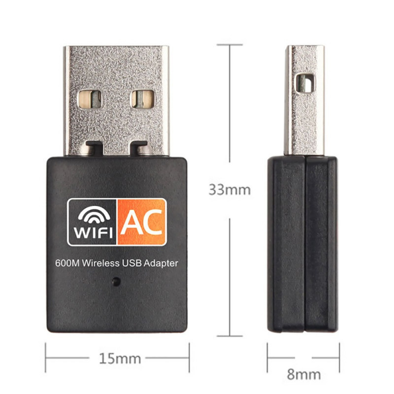 Wireless Network Card 600Mbps 2.4G 5GHz USB Wifi Adapter  Ethernet Antena Wifi Receiver USB LAN AC Dual Band For PC Wi-fi Dongle