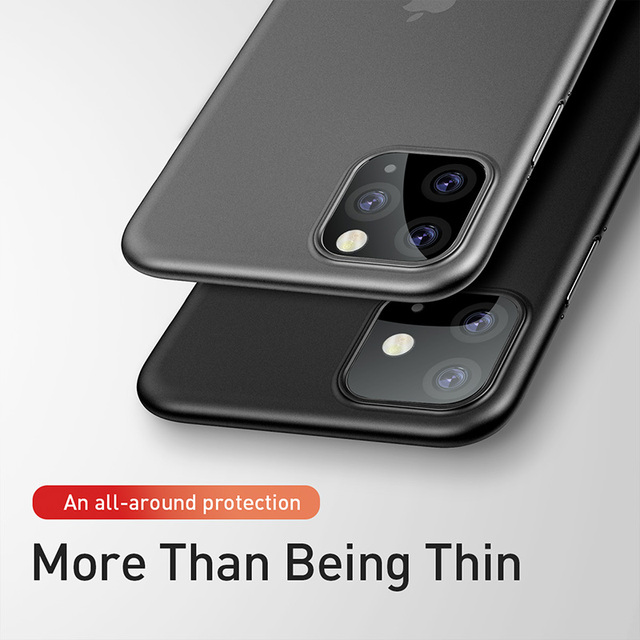 Baseus 0.4mm Super Thin Phone Case For iPhone 11 Case Coque 11 Pro Back Cover PP Coque Fundas for iPhone 11 Pro MAX Case Capa XS 2
