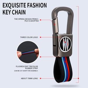 Image 3 - אבץ סגסוגת חכם מפתח מקרה כיסוי מרחוק מחזיק מעטפת 3 כפתורי תיק Keychain עבור פורשה Panamera 17 +, קאיין 2018 +