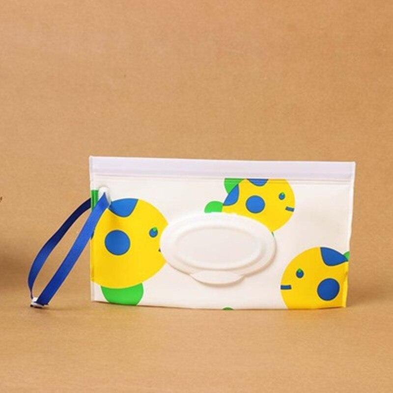 1 клатч и чистые салфетки, чехол для переноски, экологически чистые влажные салфетки, сумка-раскладушка, косметичка, удобная для переноски, с застежкой, контейнер для салфеток - Цвет: D