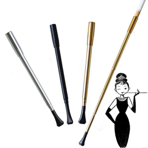 Lady Cigarette Holder Women Long Pipe Retractable Vintage Telescopic Smoking Pipe Photographic Props