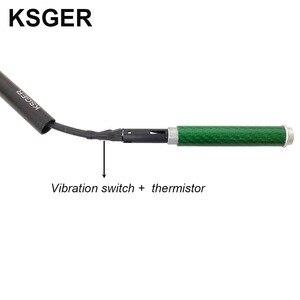 Image 4 - KSGER T12 In Lega di Alluminio FX9501 Manico In Fibra di Carbonio Per STM32 OLED Stazione di Saldatura di Ferro Penna di Punta di Saldatura Elettrica Strumenti di V2.1S