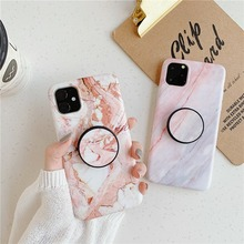 Full Protective Holder Stand Marble Phone Case for IPhone 11 Pro Max Coque Soft Silicone IMD Back Cover for Iphone XS XR 10 Case стоимость