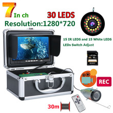 MAOTEWANG Fish Finder Underwater Fishing Camera HD 1280*720 Screen 30pcs  LED 1080P 30M Camera For Fishing 16GB DVR