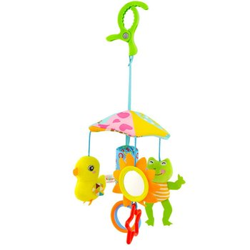 Color Funny Baby Toy Animal Cart Pendant Hanging Umbrella Bed Hanging 0-1 Year Old Comfort Plush Toys tanie i dobre opinie OCDAY Pp bawełna 11 cm-30 cm Zwierzęta i Natura