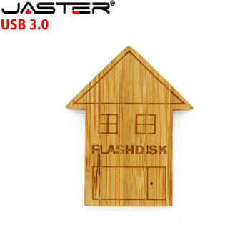 JASTER new style Carbonized bamboo house pen drive 4GB 8GB 16GB 32GB usb 3.0 bamboofidt