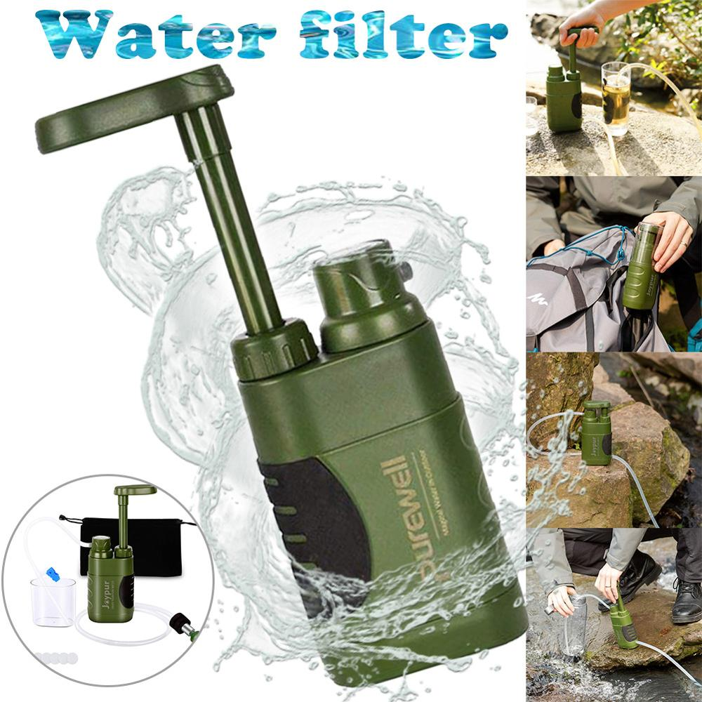 Portable Water Purifier Outdoor Camping Hiking Personal Emergency Water Purification Pump Filter Drinking Treatment Water Filter