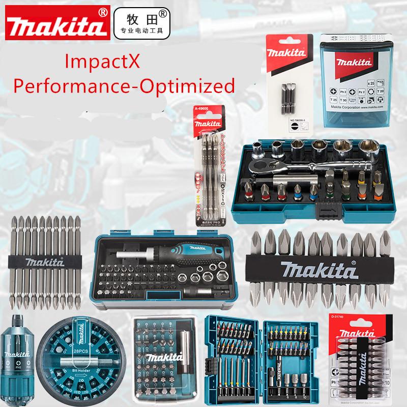 MAKITA ImpactX-Performance Ottimizzata Acciaio Inox Driver Bit Set Metric Vite Trapano Bit Set B-54081B-52467 B-36170 B-45412 B-52467