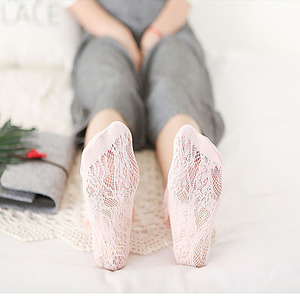 Image 5 - 5 Pairs/lot Quality Female Autumn Winter Lace Socks Japanese Hollow Sweat absorption Socks Pure Breathable Women Socks BCW012