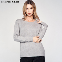 Phi Star Brand Femme Pullover Women Sweaters Knitted Ladies Fashion Bottoming Basic Thin Sweater