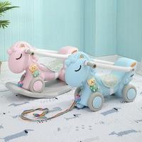 Infant Kids Ride on Toys Animal Rocking Horses Baby Toy Horse 1 6 Years Balance Multi functional Kids Indoor Toys Gift