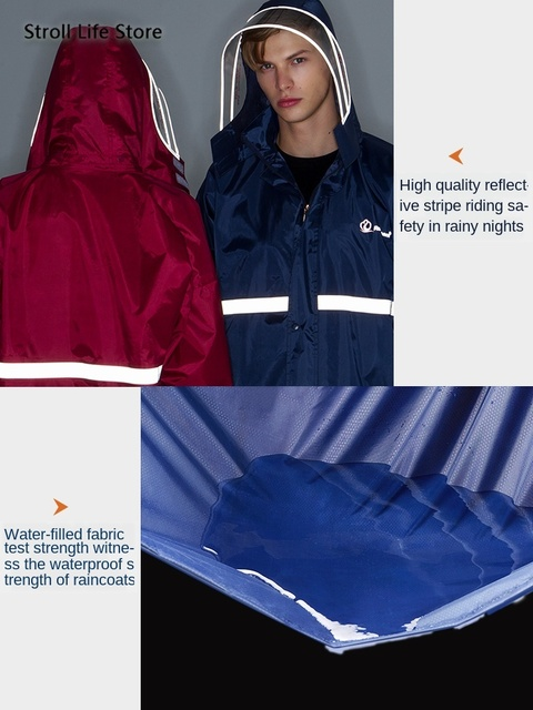 Waterproof Raincoat Women Pants Set Split Electric Motorcycle Poncho Rain Jacket Blue Mens Sports Suits Capa De Chuva Gift Ideas 2