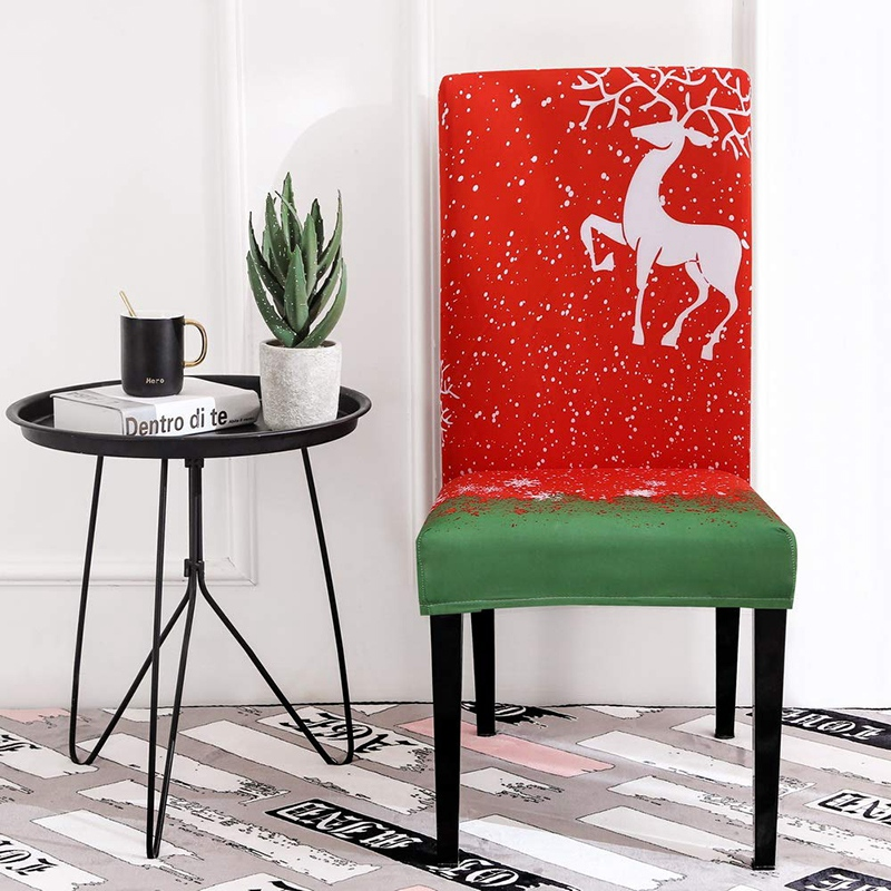 Christmas Dining Room Chair Covers Slipcovers Fabric Fit Stretch Soft Removable Washable Comfortable Christmas Kitchen Chair Cov Chair Cover Aliexpress