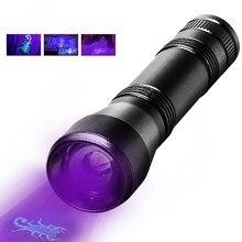 UV Flashlight LED 395nm torch Lamp Purple Violet Ultraviolet ray 5Mode Zoom Light for Detect cash,Prayer Beads by 18650 Battery цена 2017