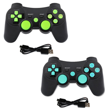 K ISHAKO Wireless Bluetooth For PS3 Joystick game Controller sony play station 3 Feature with Six Axis Shock black skull